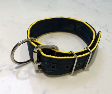 Black on Yellow - Heavy Duty Working Dog Collar